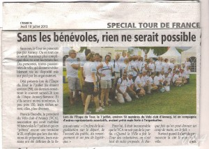 Bénévoles et TOUR de France 2013 à ANNECY 001