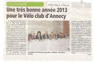 Revue de presse L'Essor et L'AG 2013 du VCA 001